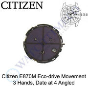 Genuine Citizen E870 Watch Movement Eco-drive 3 Hands Date At 4 Angled Solar