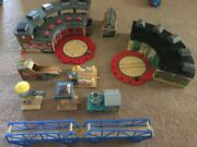 Used Thomas And Friends Wooden Tracsks And Building