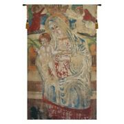 Madonna And Child Altarpiece Christian Catholic Art Woven Tapestry Wall Hanging