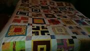 Brand New King Size Beautiful Colorful Cotton Quilt Top 101x 92