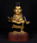 Old Burmese Nat Statue From Burma Late 19th / Early 20th Century