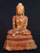 Antique Lacquer Buddha From Burma 18th Century