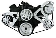 Sbc Serpentine Conversion Kit And Accessories - Polished - 160amp Alternator
