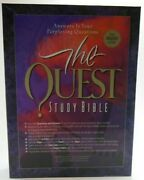 The Quest Study Bible 1994, Black Top-grain Leather, Rare, Nib, Made In The Usa