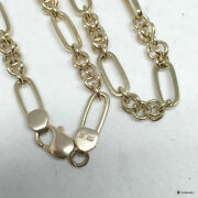 9k English Pink Gold Chain Necklace