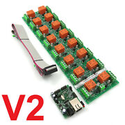 Daenetip2v2 Snmp Web 16 Channel Relay Output Module Board - Ip Remote Controller