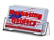 Business Card Holder Gift Card Display Ridged Horizontal Stand Clear Qty 10000