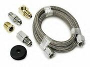 Autometer 3229 - 4 An Ss Braided Oil Fuel Pressure Gauge Hose Tubing Line Kit