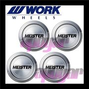 120175 X4 Work Meister Center Cap A Type Four Cap Set For S1r Pcd100 Wheels
