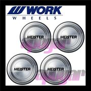 120176 X4 Work Meister Center Cap B Type Four Cap Set For S1r Pcd114.3 Wheels