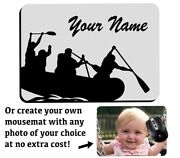 Personalised Rafting Computer Mousemat River Raft Boat Inflatable Gift Mens X647