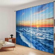 Connecting Sea Level 3d Curtain Blockout Photo Printing Curtains Drape Fabric