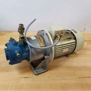 Rexroth Pv7-20/20-20ra01ma0-10 Hydraulic Pump W/ Unknown Motor And Adapter Plate