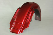 Ember Red Sunglo Cvo Style Rear Fender With Lights For 1993-2008 Harley Touring