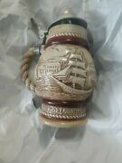 Lidded Beer Stein Vintage 1977 Avon Collectible Sailing Ships 9 Tall 74383