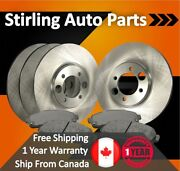 2015 For Cadillac Cts Front Rear Brake Rotors And Ceramic Pads W/17 Wheels