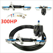 1x Hydraulic Outboard Steering System Boat Steering Cylinder Helm Pump Kit 300hp