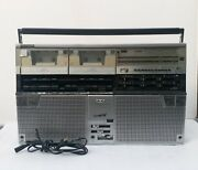 Sharp Gf 808 Stereo Cassette Player The Searcher W Boombox Japan Radio Working