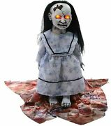Halloween Animated Graveyard Baby Doll Lunging Demon Led Eyes Haunted House Prop