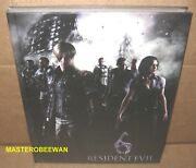 Resident Evil 6 Hardcover Limited Edition Guide Book + Patches Ps3 Xbox 360 New