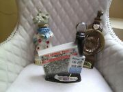 Lot Of 3 Vintage Jim Beam Whiskey Bottles Horse Ruidoso Downs Antique Trader