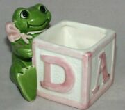 Vintage Fitz And Floyd Frog Baby Block Planter Omnibus 1984 Fitz And Floyd Planter