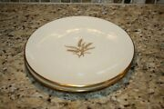 Two Lenox Wheat Pattern S And G Gump Co. Salad Plates