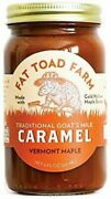 New Fat Toad Farm Traditional Goat's Caramel Sauce Vermont Maple 8 Fl Oz