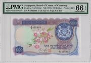 Singaporeboard Of Comm. Of Currencyp6d1973100 Dollarspmg 66epq