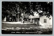 Brownsville Wisconsin Wi Camp Byron Rt 1 Real Photo Postcard Rppc 1950-