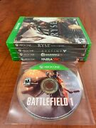 Xbox One 5 Game Lot Used In Great Shape - Battlefield 1 Ryse Son Of Rome Destiny