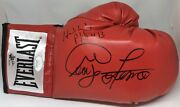 George Foreman And Evander Holyfield Signed Right Red Boxing Glove Jsa Gf Holo