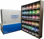 Nicker Watercolor Paint Poster Color 36 Colors Set 40ml Middle Bottle Anime New