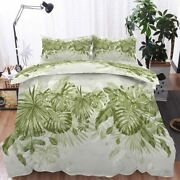 Green Leaves Palms 3d Printing Duvet Quilt Doona Covers Pillow Case Bedding Sets
