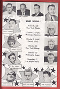 1948 Pittsburgh Steelers Team Issue 4 Page Photo Pamphlet..w/ Schedule