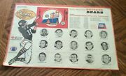1970 Ihop Bears Large Photo Placemat W/schedule Sayers, Butkus, Caffey