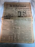 Vintage Hartford Courant Sunday Newspaper November 1 1964 Lbj Cover Connecticut