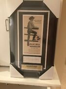 Vtg Jim Shoulders Auto W/org 50s Wrangler Ad New Frame Andldquobabe Ruth Of Rodeoandrdquo Jsa