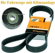 V-ribbed Belts + Tensioner Pulley Mercedes W-s202 W-s210 W163 W639 Viano Vito