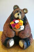 Chainsaw Carving Bear Rustic Wood Furniture Woodcarving Home Decor Art Sculpture