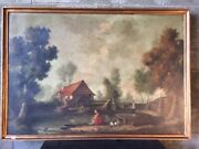 Elegant Oil Painting On Canvas Landscape With Mill