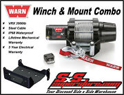 3500lb Warn Vrx 35 Winch Mount Combo Yamaha Grizzly 550 2009-14 700 2007-15
