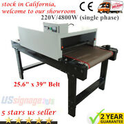 Us 220v T-shirt Conveyor Tunnel Dryer 5.9ft Longx25.6and039and039 Belt For Screen Printing