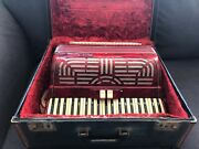 Vintage Paolo Soprani Red Accordion W/ Case 120 Bass 41 Key Made In Italy