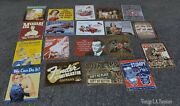 Mid Century Modern Metal Retro Wall Signs 19 Signs