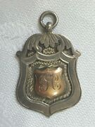 Silver And Gold Medal With Monogram In The Early 20th Century