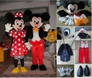 Mickey Mouse And Minnie Mouse Mascot Costume Cosplay Fancy Dress Suit Adult