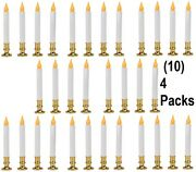 10 Sylvania V24329-88 4 Pack 9 Battery Operated Flickering Led Window Candles