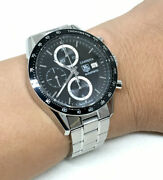 Tag Heuer Carrera Auto Chronograph Date Man / Unisex Size 42mm Black Color Dial