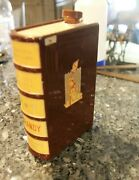Concise Dictionary Book Bright Spirit Gin Decanter Bottle Made In West Germany